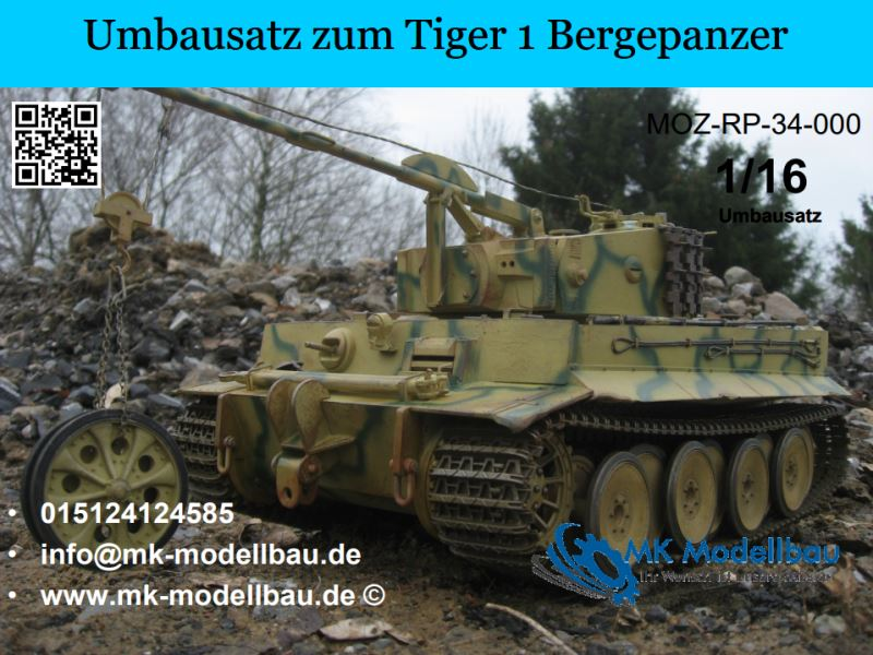 Conversion kit for the Tiger 1 armored recovery vehicle
