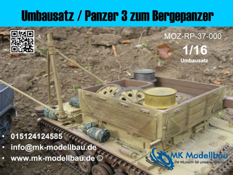 Conversion kit / Panzer 3 to armored recovery vehicle